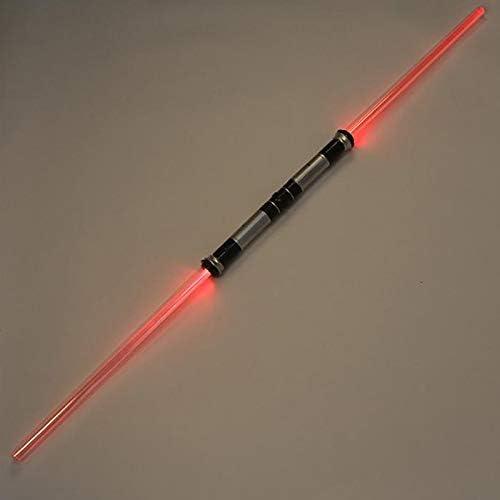 NANDAN Star Wars Lightsaber 2 st/ück Spielzeug Lichtschwert Faltbares Schwert doppelseitig Saber Multi Colorr mit Soundeffekte Spielzeug Licht Sab/ärs f/ür Jungen M/ädchen Kinder