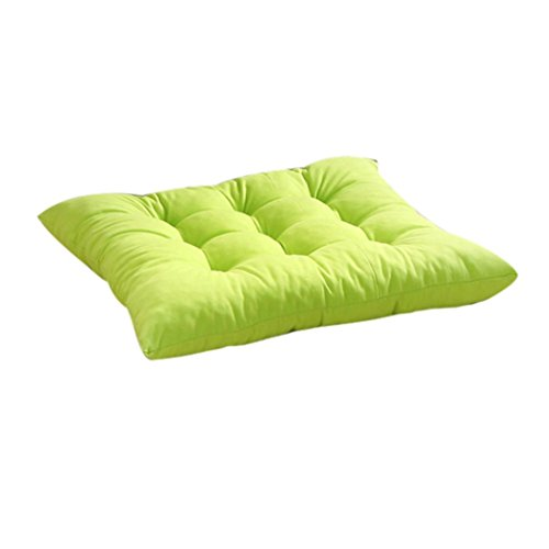 Sanding Seat Cushion,Leegor 4040cm Flexible Nine-Pin Soft Seat Cushion Indoor Home Garden Patio Home Cushion Kitchen Office Square Cotton Buttocks Chair Pads, Comfortable And Breathable (Green)