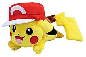 Pokemon Pikachu Plush Doll riding on your shoulders [Satoshi Version](Japan Import) by Takara Tomy