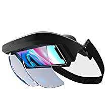 AR Headset, AR Box FOV 90°+ Augmented Reality Holographic Projection AR Viewer Smart Helmet with Controller for iPhone & Android 4.5 - 5.5 in Immersive 3D Videos/Games,fits Chengzi VR (Chinese) only