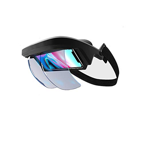 AR Headset, AR Box FOV 90°+ Augmented Reality Holographic Projection AR  Viewer Smart Helmet with Controller for iPhone & Android 4 5 - 5 5 in