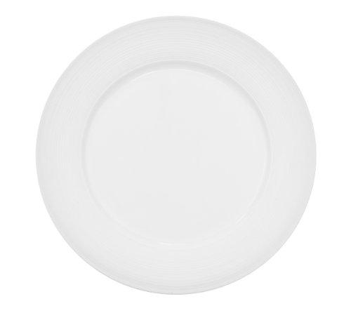 CAC China TST-7 Transitions 7-1/2-Inch Non-Glare Glaze Super White Porcelain Plate, Box of 36 ()