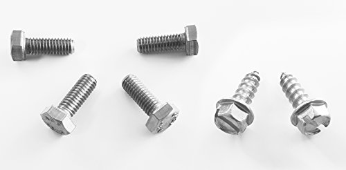 (RSD Never Rust OE Style License Plate Screws for Honda (Set of 6 - Front/Rear))