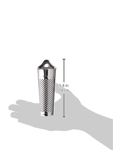 Fox Run 5572 Nutmeg Grater, 1.25 x 3.75 x 8.5 inches, Metallic 2 1 x 2 x 5.5 inch Made of durable stainless steel with fine grating holes Curved grating area allows you to grate nutmeg seeds with ease