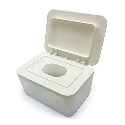 Eeayyygch Boîte à Serviettes hygiéniques; Carton scellé; Papier glacé; boîte Humide, café (coloré : Milkywhite) café (coloré : Milkywhite)