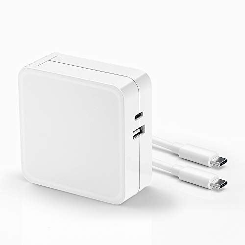 61W USB C Power Adapter,Replacement PD Charger Compatible with MacBook Pro 13-inch Laptop (A1706),MacBook 12 inch,with a USB-C to USB-C Fast Charging&Data Cable