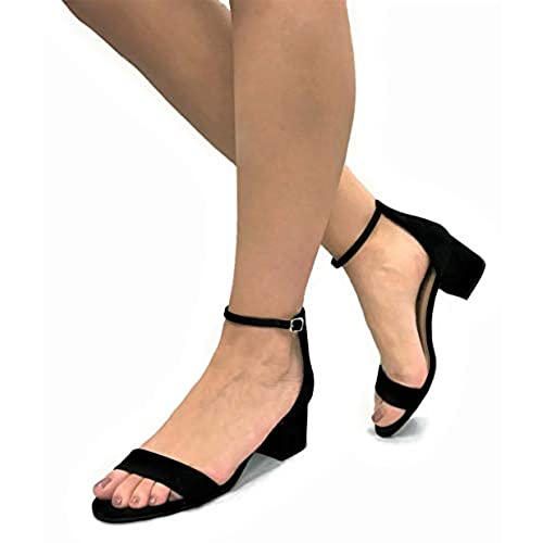 7f4ef929be cheap City Classified Comfort Womens Block Heel Dress Sandal Open Toe Ankle  Strap Heeled Sandals