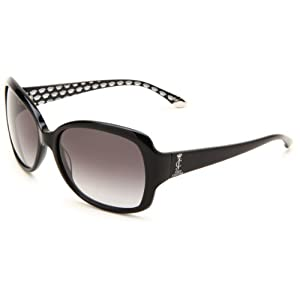 Juicy Couture Women's Juicy 503/S Rectangle Sunglasses,Black Frame/Gray Gradient Lens,One Size