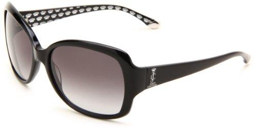 Juicy Couture Women's Juicy 503/S Rectangle Sunglasses,Black Frame/Gray Gradient Lens,One (Juicy Couture Prescription Sunglasses)