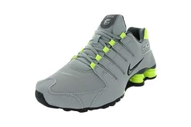 Nike Shox NZ Mens Running Shoes 378341-057 Silver 8 M US