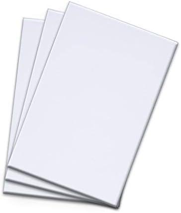 مفارش بيضاء سادة وسادات كتابة بيضاء مقاس 3 100 ورقة وسادات تذكارية للاستخدام متعدد الأغراض 4 6 بوصات Amazon Ae