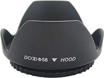 58mm DSLR Plastic Screw Mount Flower Petal Lens Hood