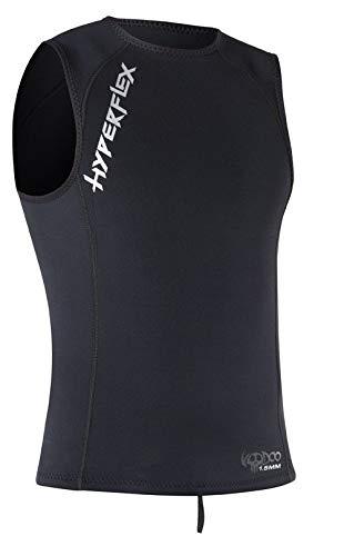 Hyperflex Wetsuits Men's Voodoo 1.5mm Pullover Vest, Black, X-Large - Surfing, Windsurfing & Wakeboarding