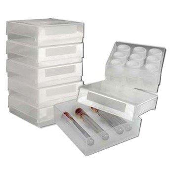 Argos Technologies PolarSafe Gridless Freezer Box, PP, No Dividers, Clear; 5/Pk