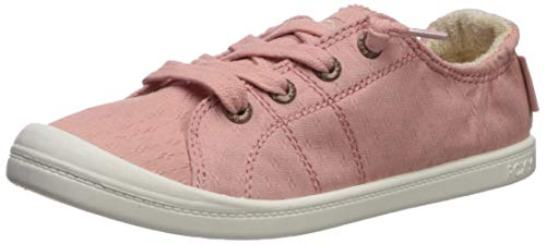 Roxy Women's Bayshore Slip on Shoe Sneaker, Peach Cream 6 M US