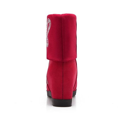 1TO9 - Stivali chelsea donna, rosso (Red), 35