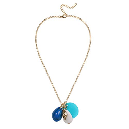 HCDjgh Long Necklaces for Women Fashion Jewelry Rose Gold Trend Wild Necklace Color Diamond Fashion Necklace Inlaid ()