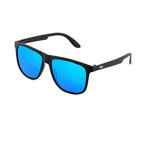 sol hombre MAGRITTE TWIG degradadas espejo mujer Gafas de Azul Negro 5qBwZ7
