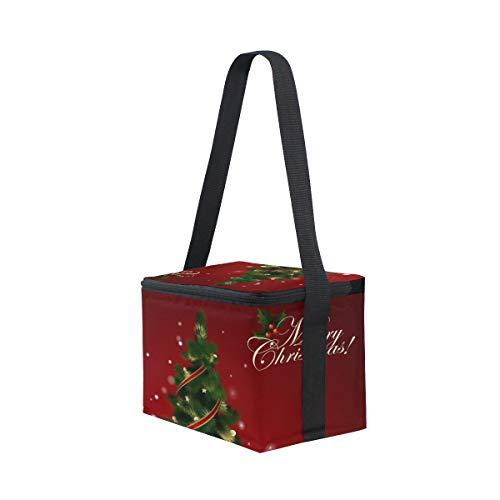 Hombro Bolsa Fiambrera Picnic Para Hermoso Almuerzo Navidad De Árbol Correa wxq8U6FwR