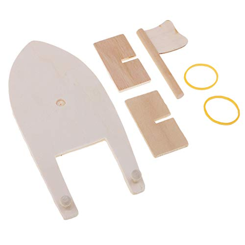 Boat School Wood - Fenteer Blank Unfinished Wood Wooden Sailboat Model Making Material for DIY Wood Crafts School Painting Art