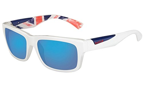 Bolle Jude Sunglasses, Matte White/UK Olympic, Polarized Offshore Blue oleo - Serengeti Uk