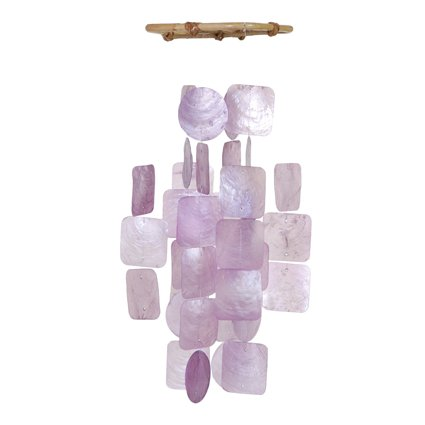 Cheap Lilac Colored Capiz Shell Windchime