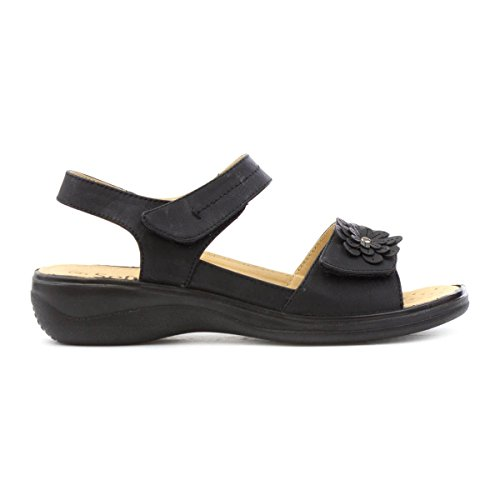 Softlites Womens Black Easy Fasten Comfort Sandal Black DSZFlTgYG