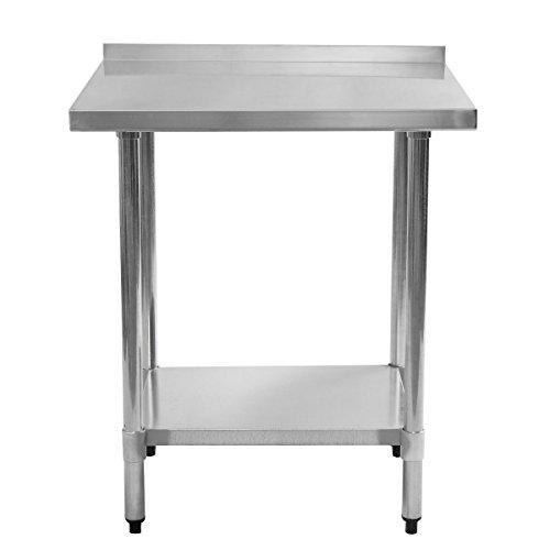 Giantex Stainless Steel Work Prep Table with Backsplash Kitchen Restaurant (24