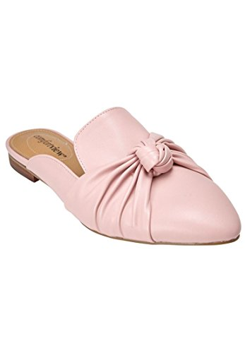 Comfortview Womens Wide Ceclilia Mules Rose Mist