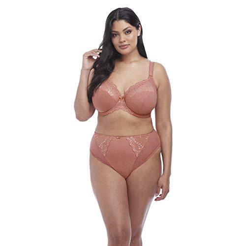 Elomi Women's Plus-Size Charley Stretch Lace Underwire Plunge Bra Bra, Rosegold, 44G, 44G