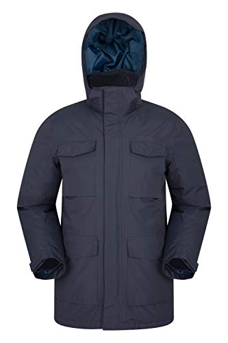 Mountain Warehouse Concord Mens Down Puffer Long Jacket - Warm Blue Large