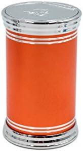 uxcell 灰皿 オレンジ 自動車 ポータブル 旅行 タバコ シリンダー ホルダーカップ ブルー ライト