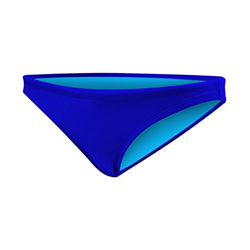 TYR Women's Solid Mini Bikini Bottom,Royal ()