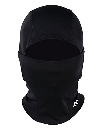 Trailside Supply Co. Windproof Ski Mask Cold Weather Face Mask Motorcycle Balaclava Hood Black