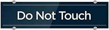 24x6 Do Not Touch Basic Navy Premium Acrylic Sign 5-Pack CGSignLab