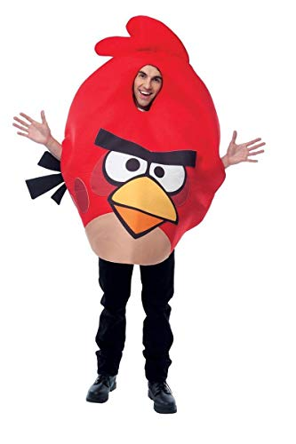 Paper Magic Unisex - Adult Angry Birds Costume, Red, One Size - coolthings.us