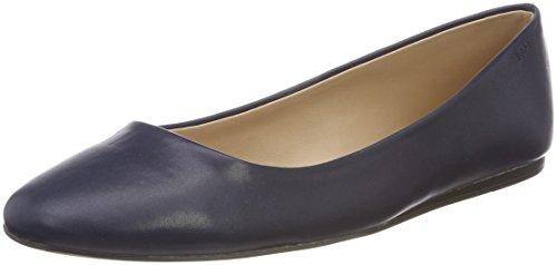 ESPRIT Women's Carita Ballerin Closed Toe Ballet Flats Blue (Navy 400) A06coJDU