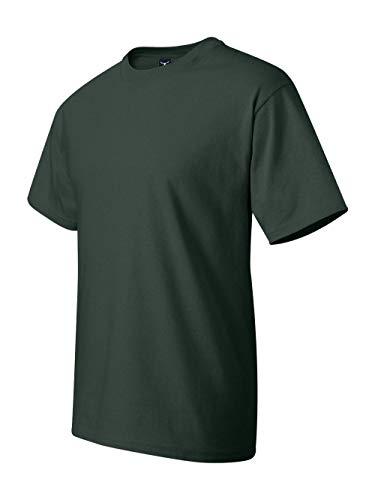Heavyweight Tee Cotton 100% (Hanes Men's Short-Sleeve Beefy T-Shirt,Deep Forest,X-Large)