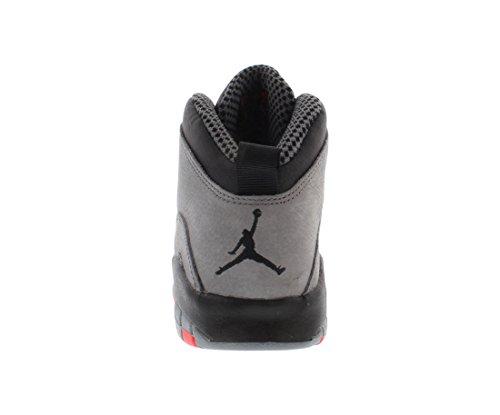 Nike Air Jordan 10 Retro Bg, Zapatillas de Deporte para Niños Gris / Rojo / Negro (Cool Grey / Infrared-Black)