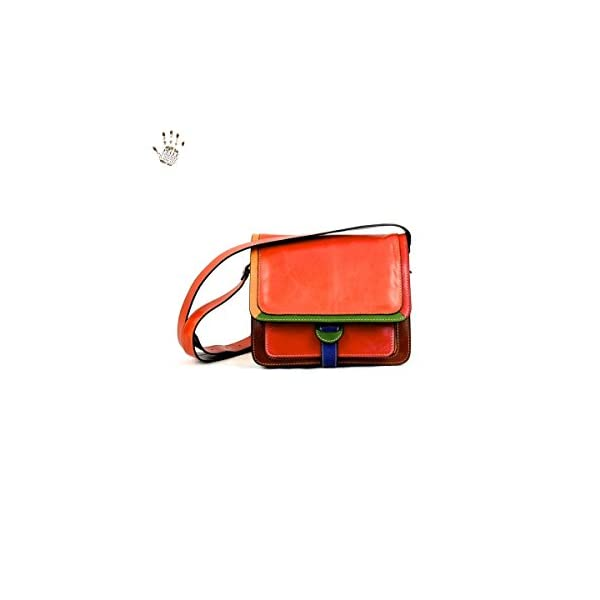 Made In Italy Vegetable Tanned Leather Bag For Women Color Multicolor Tuscan Leather - Prestige Line - more-bags
