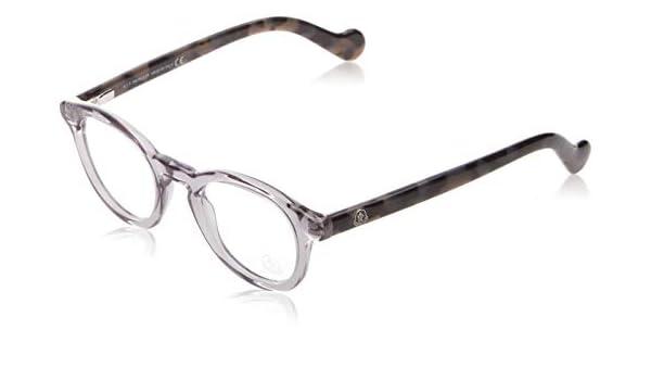 Moncler Oval Eyeglasses ML5002 001 Shiny Black 46mm 5002