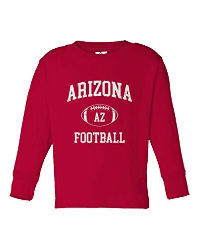 - Sheki Apparel Football Hometown Pride Cardinal Toddler Long Sleeve T-Shirt (Red, 5T)