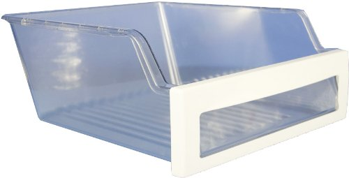 LG Electronics 3391JJ2012D Refrigerator Vegetable Crisper Drawer, Clear with White Trim by LG