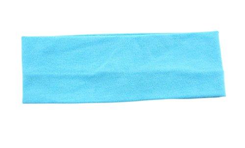 AshopZ Women Sweat Sports Stretch Head Cotton Flexible Hairband, Blue