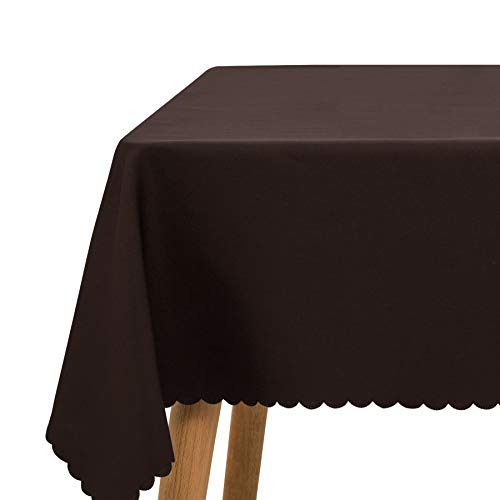 SyMax Waterproof Tablecloth Lace Rectangle Parties Polyester Dining Decorate Table Cover for Picnic,Wedding(54x108 inch, Coffee-Lace) -