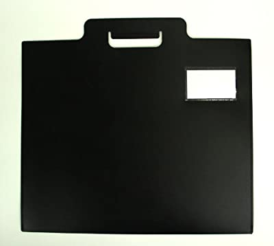 "Black Poly Art Portfolio with Stitched Edges 22"" x 17"", Moisture Resistant"