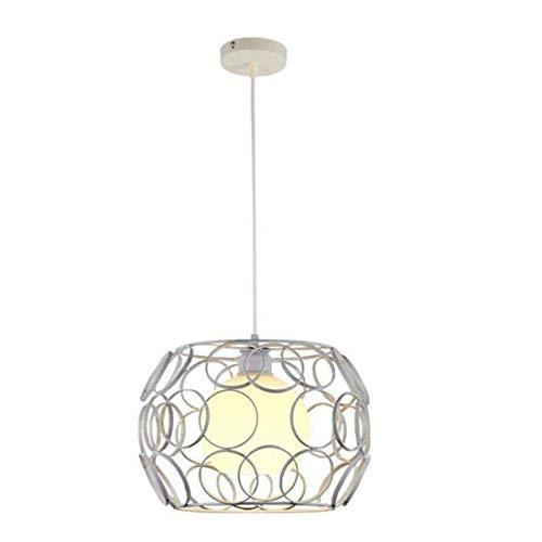HBLJ Chambre Salon Personnalité et Lampes Lustres Sépia Fer Art Simple Blanc 9Wwarm lumière 32  21Cm