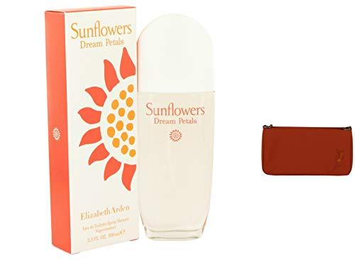 Elizbeth Ardn Sunflowrs Dram Ptals Prfume For Women 3.3 oz Eau De Toilette Spray + a Free Cerruti Hand Bag