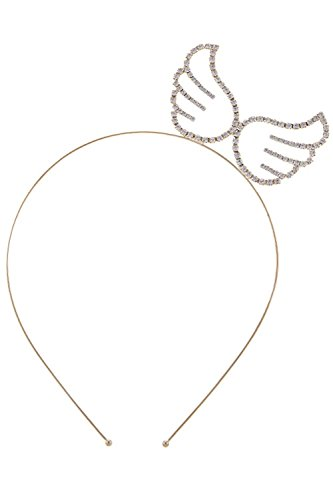 THE JEWEL RACK CRYSTAL LINED ANGEL WING HEADBAND (GOLD) (Where To Buy Angel Wings)