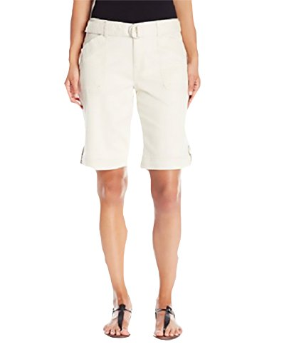Gloria Vanderbilt Women's Sierra Stretch Twill Short With Self Belt 24W Dark Vanilla ()